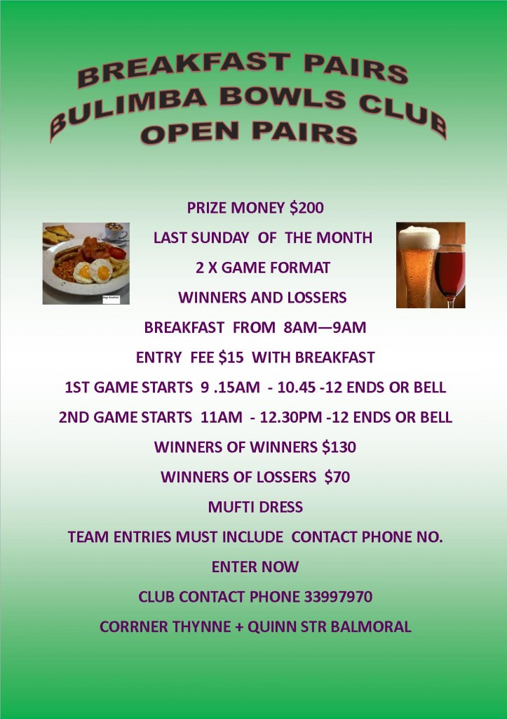 Breakfast pairs flyer