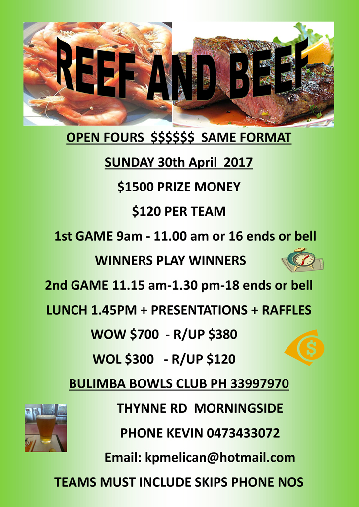 Reef and Beef 2017, Bulimba Bowls Club, Bulimba Brisbane